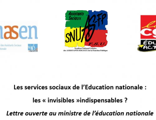 Lettre ouverte intersyndicale au ministre de l'Education Nationale